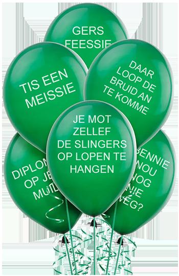 Ballonnen met typisch Rotterdamse teksten